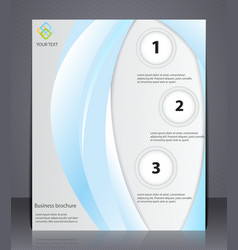 business brochure presentation layout template vector image