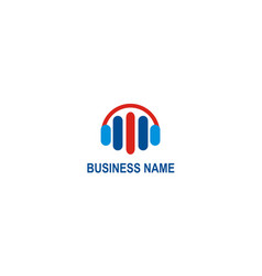 business music equalizer logo vector image