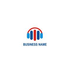 business music equalizer logo vector image