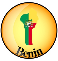button Benin vector image