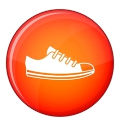Canvas sneaker icon flat style vector