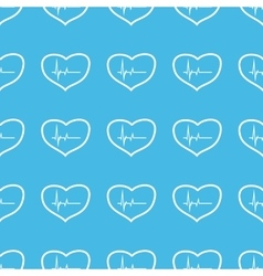 Cardiology straight pattern vector image