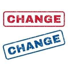 Change Rubber Stamps vector