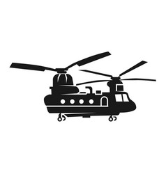 Chinook helicopter icon simple style vector