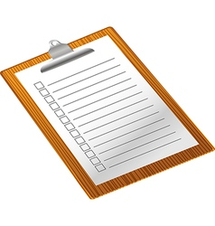 Clip board with notepad vector image