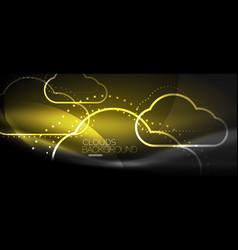 Cloud computing storage concept vector