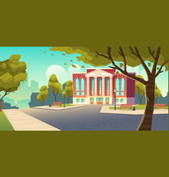 college building educational institution school vector image