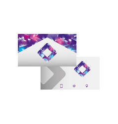 Corporate double sided business card stationery vector