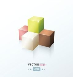 cube infographic design vector image