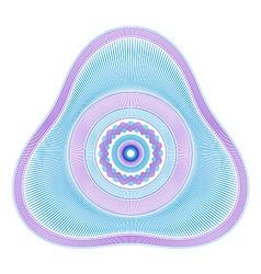 Delta Guilloche Rosette vector image