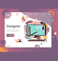 Designer website landing page design vector