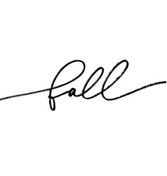 fall ink brush pen lettering vector image