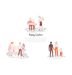 family conflict - people having difficult vector image