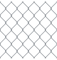 fence made of metal wire vector image