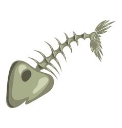 Fish bone icon cartoon style vector image