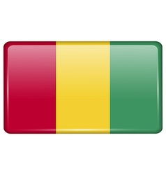 Flags Guinea in the form of a magnet on vector