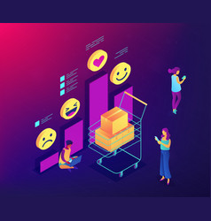 Get clients feedback isometric 3d concept vector