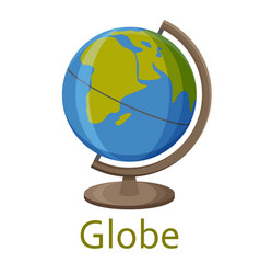 globe isolated on the white background vector image
