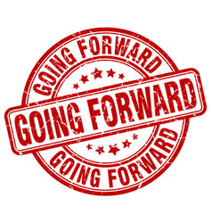 Going forward red grunge stamp vector