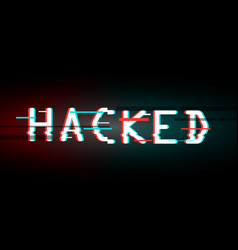 hacked glitched abstract digital background vector image