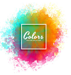 Hand paint watercolor splash on white background vector
