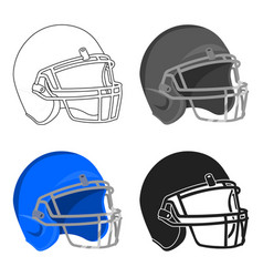 Helmet icon cartoon single sport icon from the vector