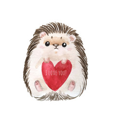 holiday card with hedgehog vector image