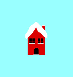Home winter christmas atribute logo vector