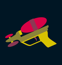 Icon in flat design toy gun vector
