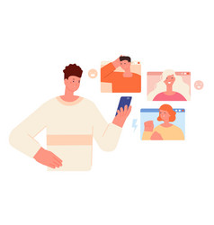 internet bullying cyber fear social media danger vector image