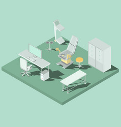 isometric gynecology room with vector image