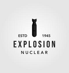 Little boy nuclear bomb logo icon vector