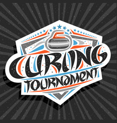 Logo for curling tournament vector