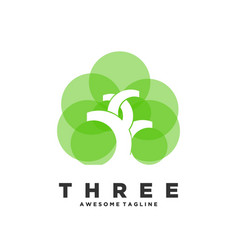 logo tree color style vector image