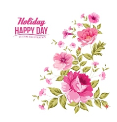 Luxurious color rose pattern vector image