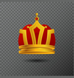 Monarchy golden crown icon isolated on vector
