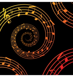 music spiral background vector image