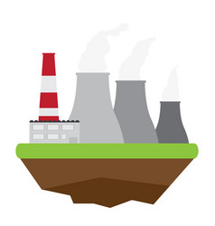 nuclear power plant energy conceptual image vector image