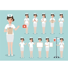 Nurse medical and hospital staff characters vector image