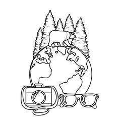 Outdoor camping cartoon vector