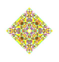 Polygonal abstract ornate mosaic diagonal square vector