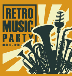 poster for retro music party vector image