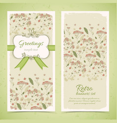 retro decorative vertical banners vector image