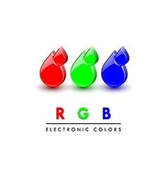 Rgb icons vector image