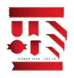 Ribbon flag template design vector