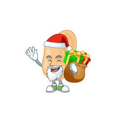 santa sarcina cartoon character with sacks gift vector image