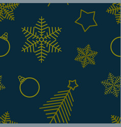 seamless christmas pattern with image of vector image