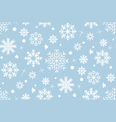 seamless pattern with snowflakes white vector image