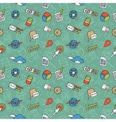 SEO Doodle Pattern vector image