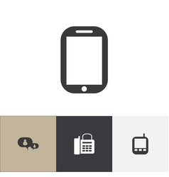 set of 4 editable phone icons includes symbols vector image